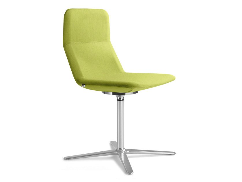 Swivel upholstered fabric chair with 4-spoke base FLEXI CHL F25-N6 by LD Seating
