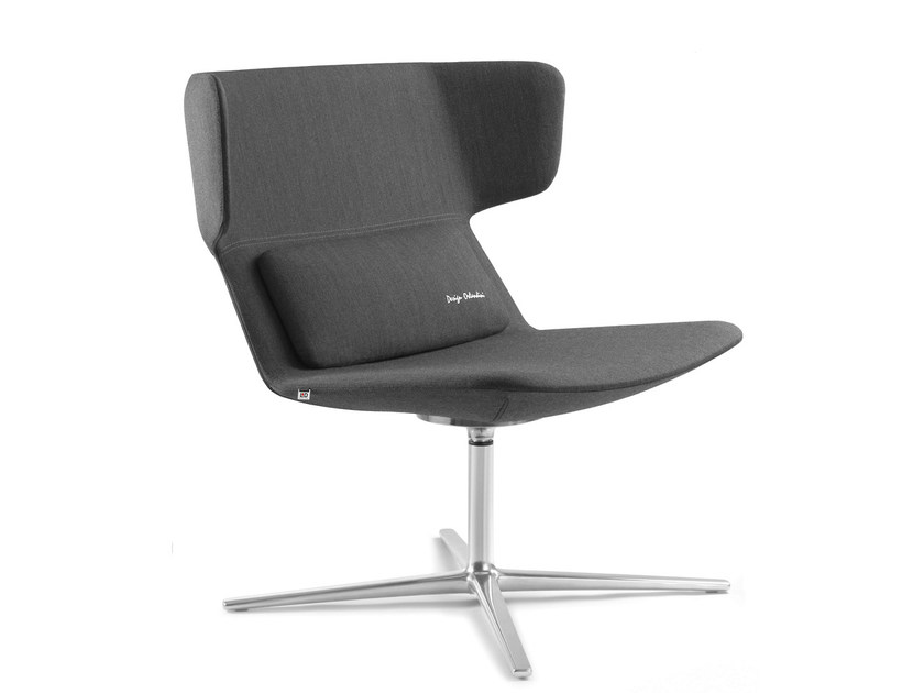 Swivel upholstered fabric easy chair with 4-spoke base FLEXI L F27 N6 by LD Seating