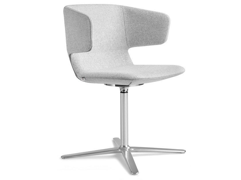 Swivel fabric chair with 4-spoke base FLEXI-P, F25-N6 by LD Seating