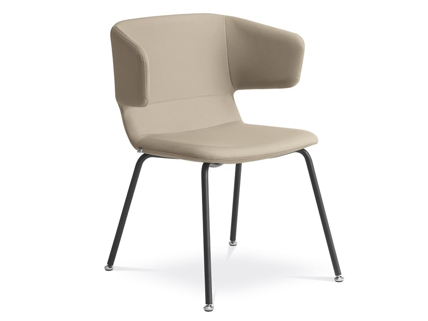 Upholstered fabric reception chair FLEXI P-K-N1 by LD Seating