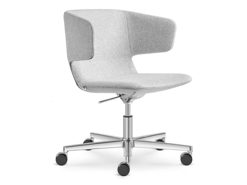 Sedia ufficio ad altezza regolabile girevole con ruote FLEXI-P-RA-F37 by LD Seating