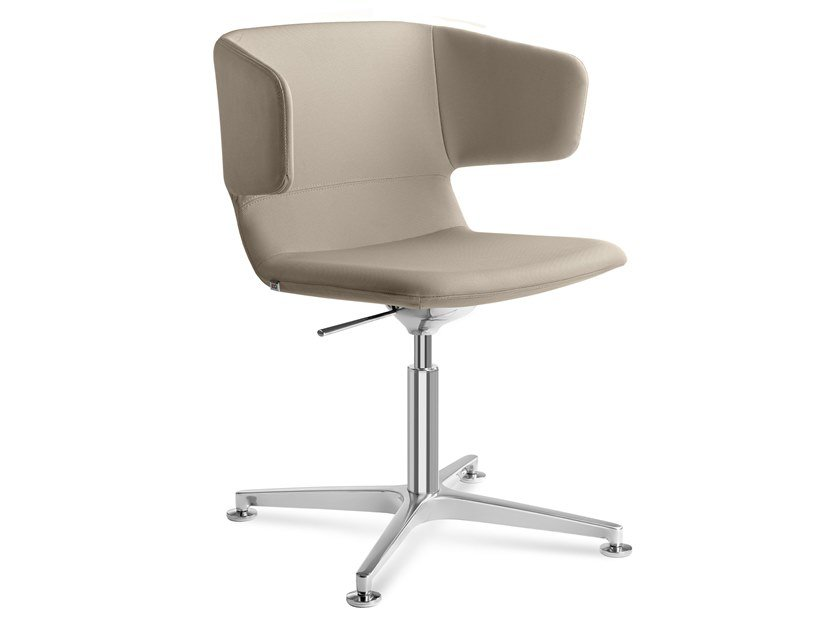 Swivel fabric chair with 4-spoke base FLEXI-P-RA, F60-N6 by LD Seating