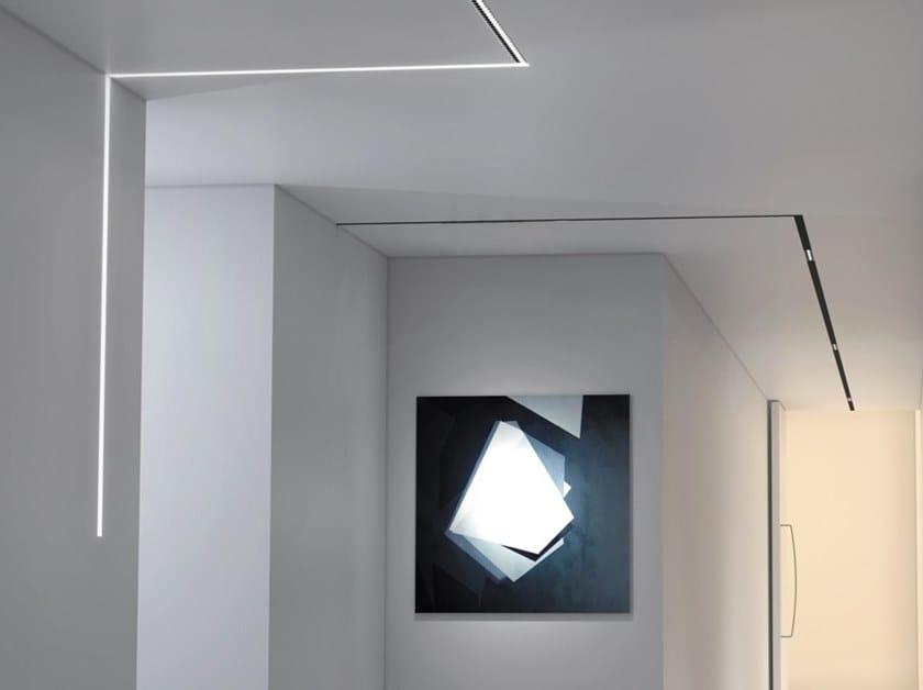 Semi-inset aluminium Linear lighting profile FLEXIBLE EN DIF by Exporlux