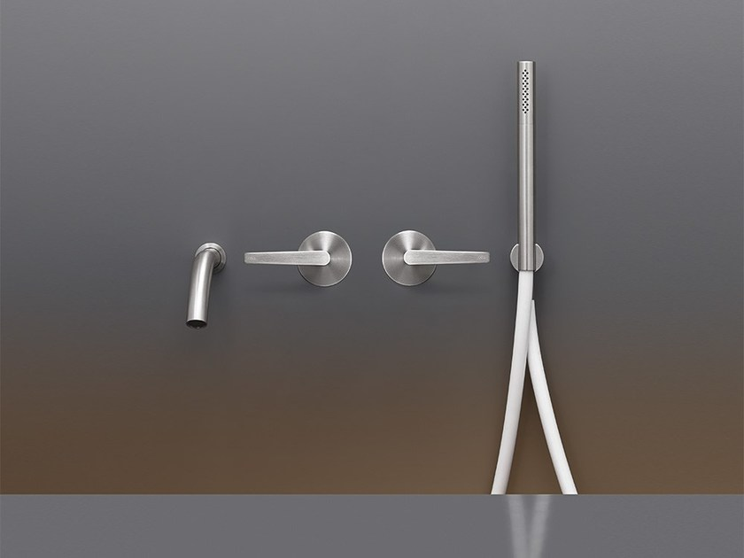 Hydroprogressive mixers for bathtub with hand shower FLG 23 by Ceadesign