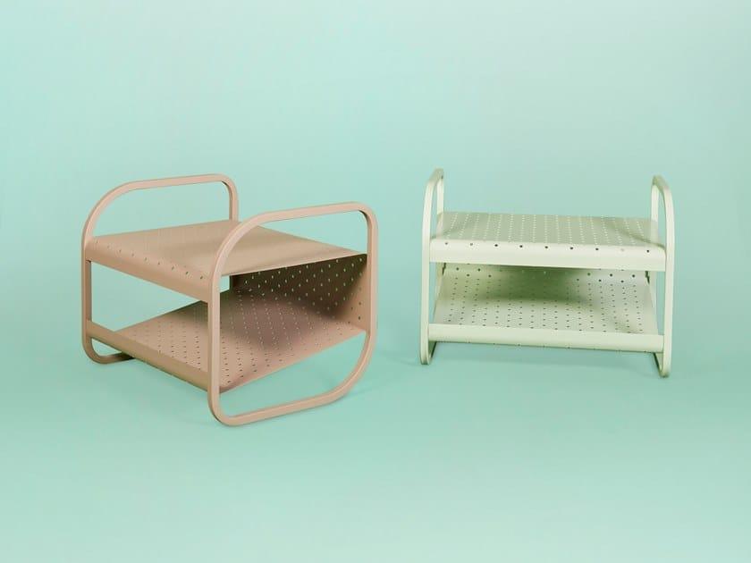 Poggiapiedi / tavolino in metallo FLIP   Poggiapiedi by Giacopini