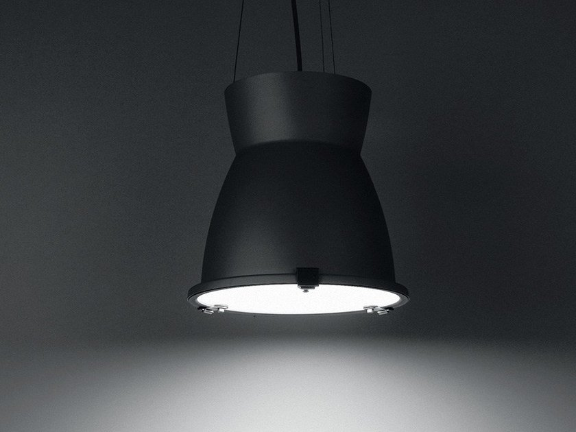 Contemporary style aluminium pendant lamp FLIPPER by LANZINI