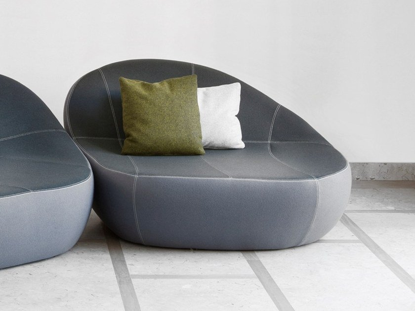 Fabric armchair with removable cover FLIRTSTONES by spHaus