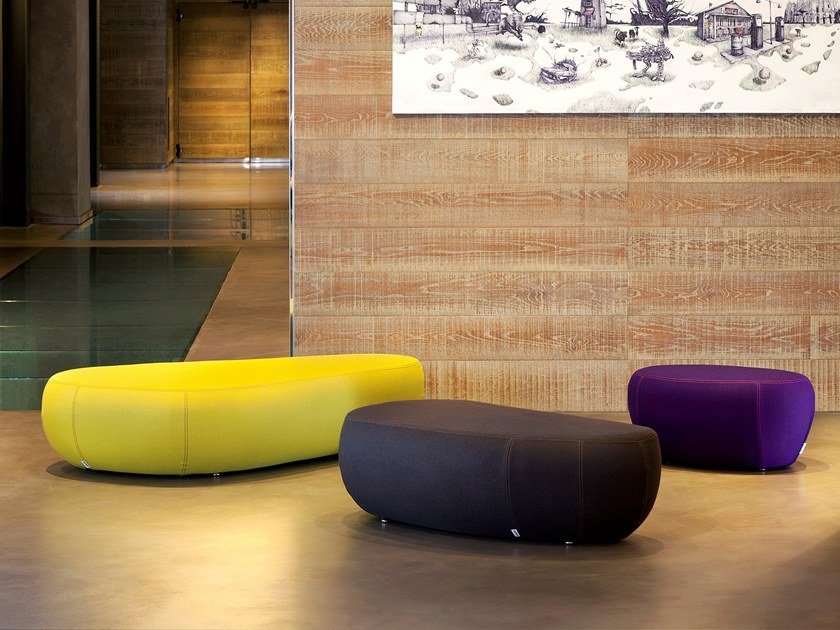 Fabric pouf with removable lining FLIRTSTONES by spHaus
