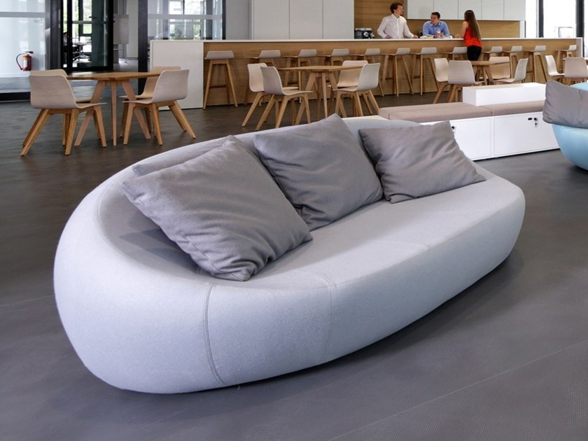 3 seater fabric sofa with removable cover FLIRTSTONES by spHaus