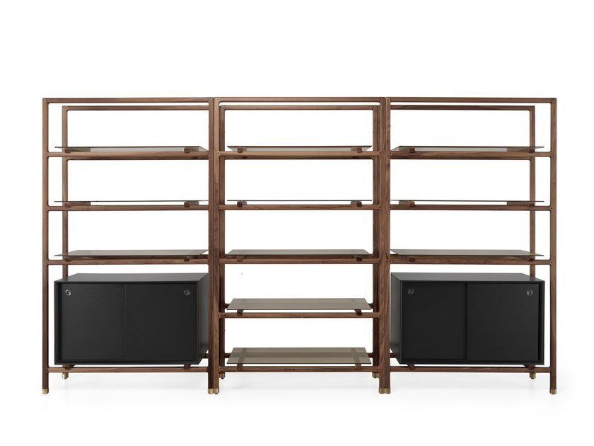 Open double-sided shelving unit FLOAT | Bookcase by Wewood