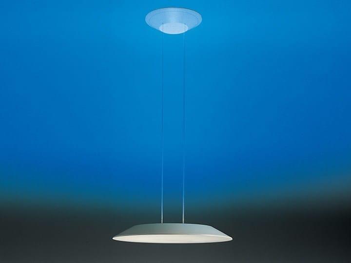 Direct-indirect light fluorescent polycarbonate pendant lamp FLOAT CIRCLE | Pendant lamp by Artemide