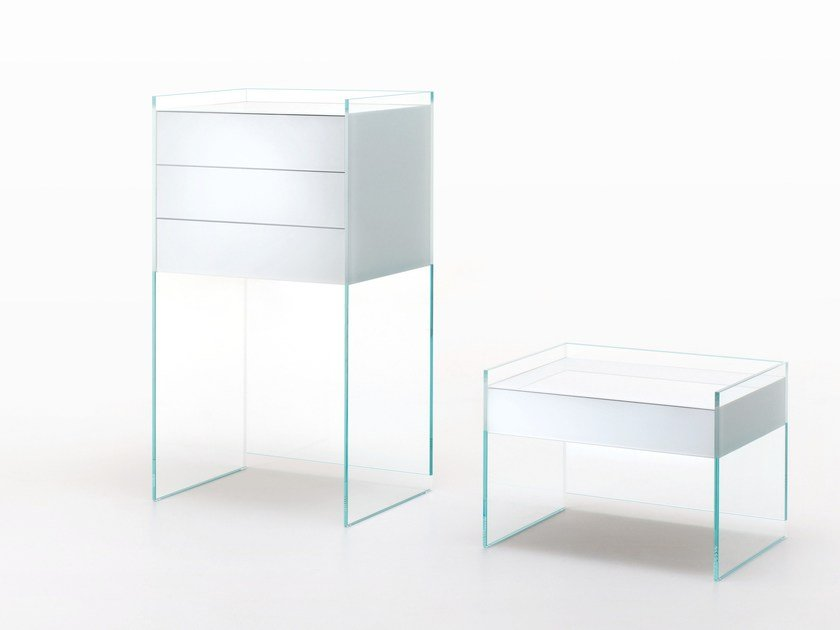 Crystal chest of drawers FLOAT | Chest of drawers by Glas Italia