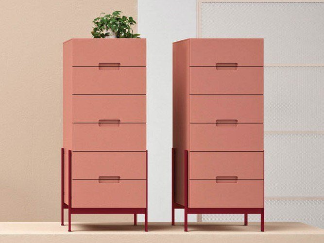 Lacquered chest of drawers FLOAT | Chest of drawers by Novamobili