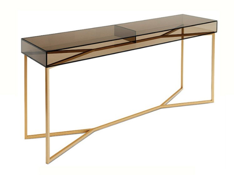 Rectangular glass console table FLOAT by Conceito Casa