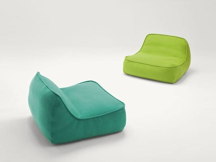 Fabric armchair with removable cover FLOAT MINI by paola lenti