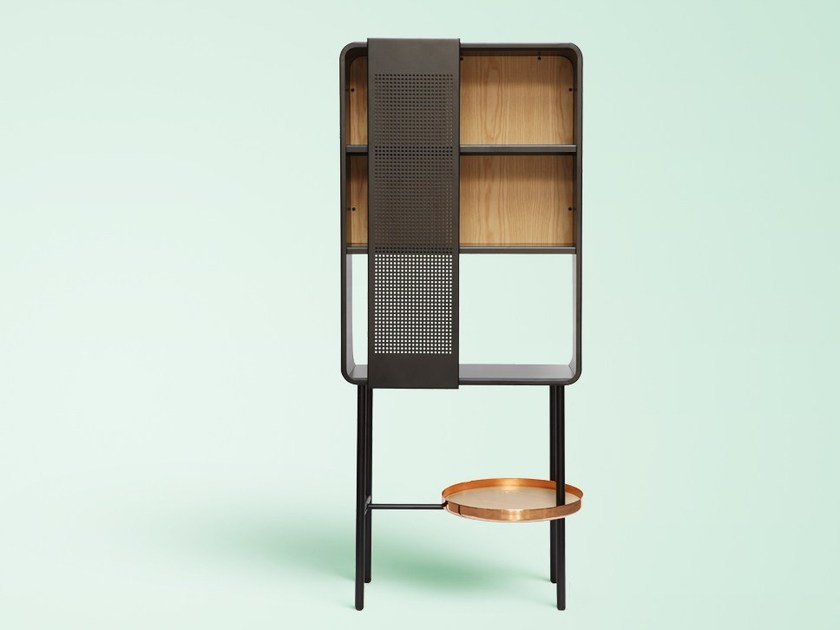 Lacquered metal display cabinet FLOAT | Metal display cabinet by Miras