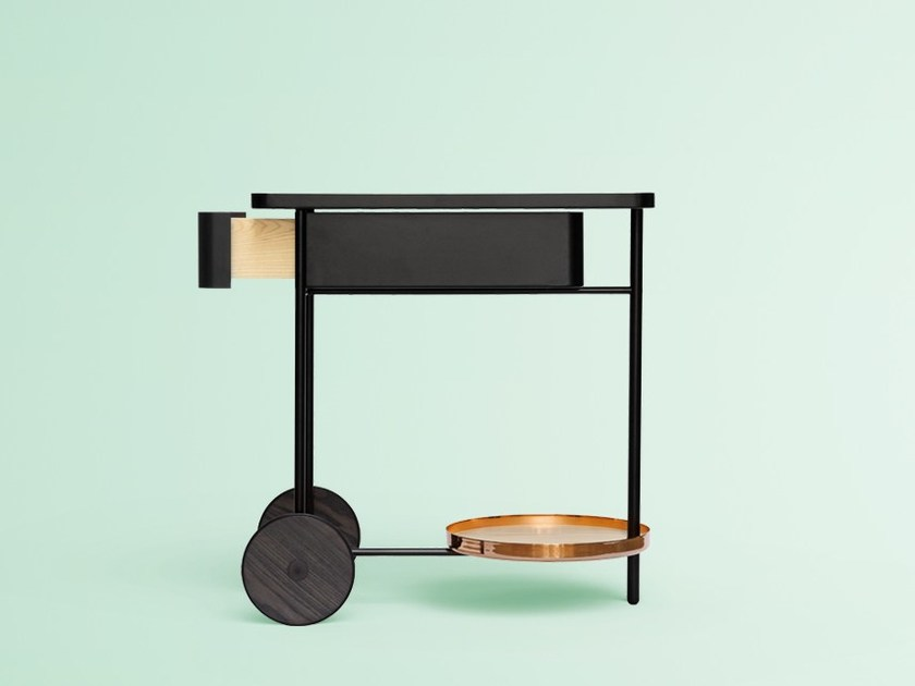 Carrello portavivande in metallo FLOAT | Carrello portavivande by Miras