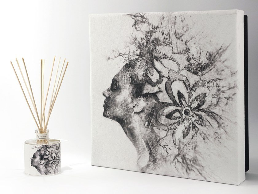 Natural stone Air freshener dispenser FLOATING Premium - Uva e Mirtilli by IWISHYOU