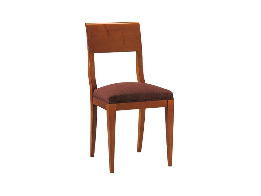 Upholstered cherry wood chair FLORA | Chair by Morelato