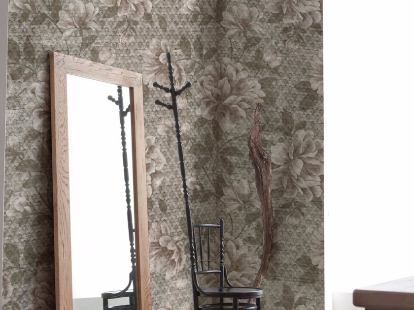 Panoramic wallpaper with floral pattern FLORA | Wallpaper with floral pattern by Inkiostro Bianco