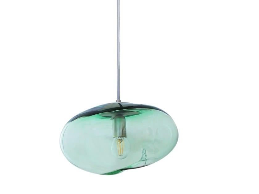 LED handmade blown glass pendant lamp FLORA | Pendant lamp by ELOA