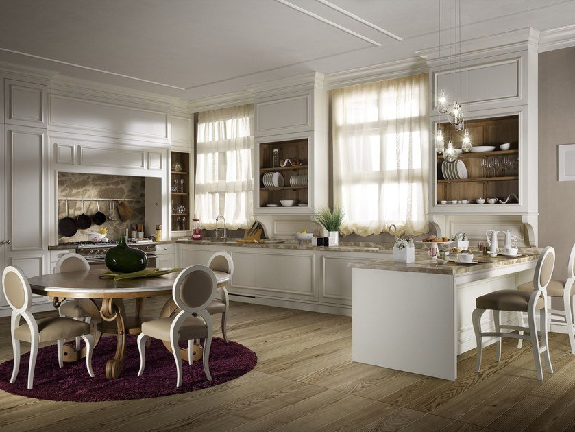 FLORAL | Lacquered kitchen By L\'Ottocento
