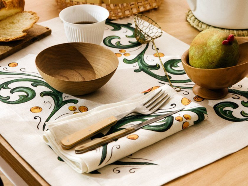 Breakfast set (6 placemats + 6 napkins) FLORAL | Placemat by The NapKing