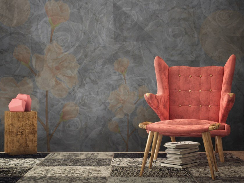 Adhesive washable wallpaper FLORAL by Wall LCA