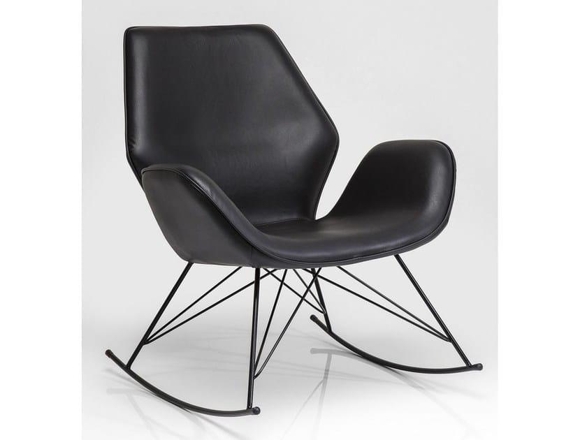 Rocking armchair with armrests FLORIDA BLACK by KARE-DESIGN