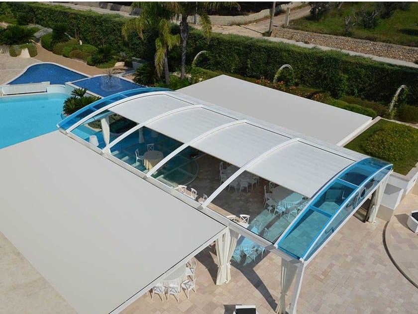 Freestanding pergola with sliding cover FLORIDA by Sprech