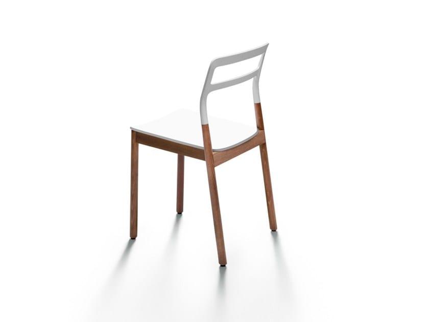 Sedia impilabile in legno massello e plastica FLORINDA - DE PADOVA