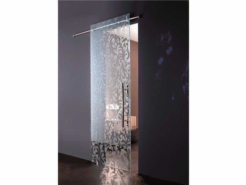 Glass sliding door FLORITA SANDBLASTED by Casali