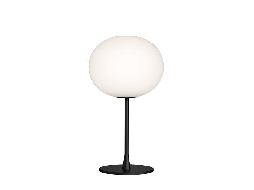Design glass table lamp with dimmer FLOS - GLO-BALL T1 Black by Archiproducts.com