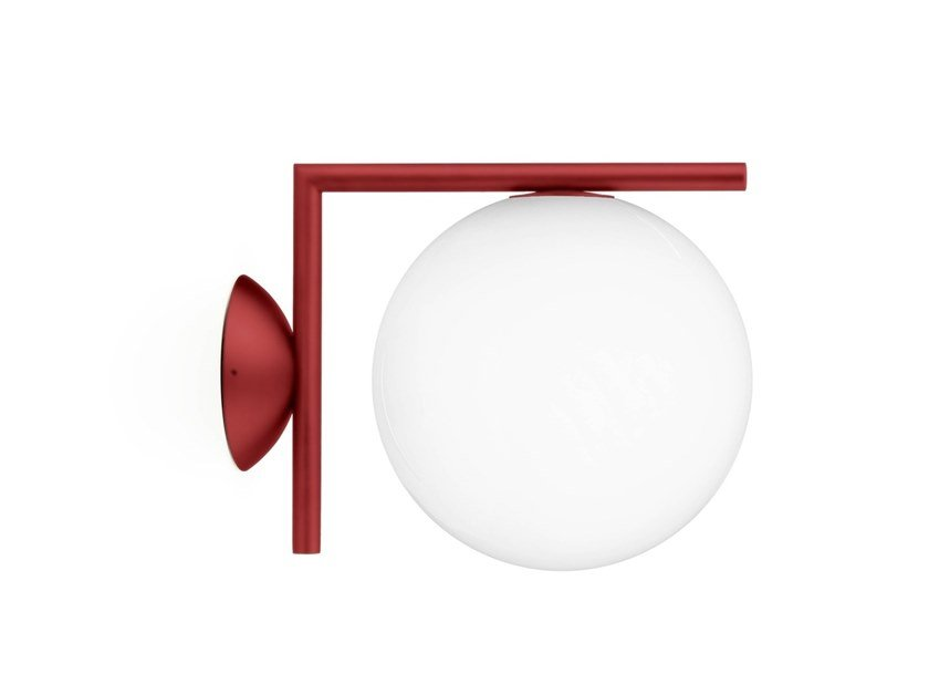 Wall lamp FLOS - IC LIGHTS CW1 Red by Archiproducts.com