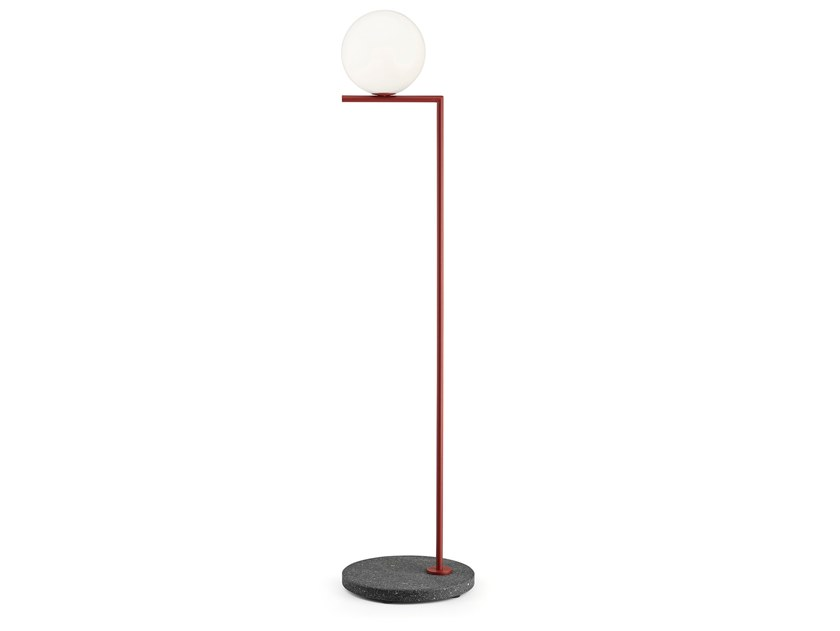Lampada da terra per esterno a LED FLOS - IC LIGHTS F1 OUTDOOR ROSSO by Archiproducts.com