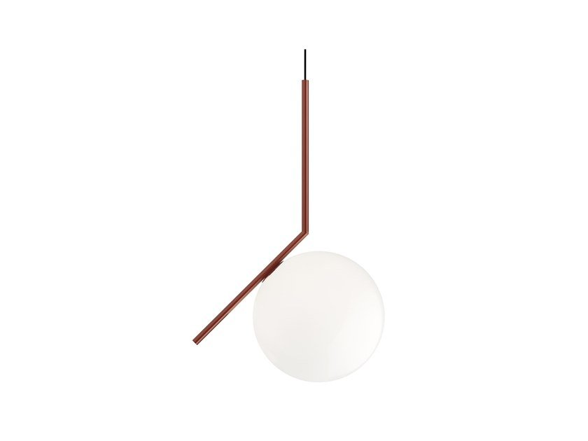 Pendant lamp FLOS - IC LIGHTS S2 Red by Archiproducts.com