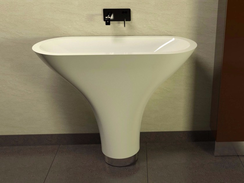 Lavabo freestanding in Adamantx® FLOUNDER by ZAD ITALY