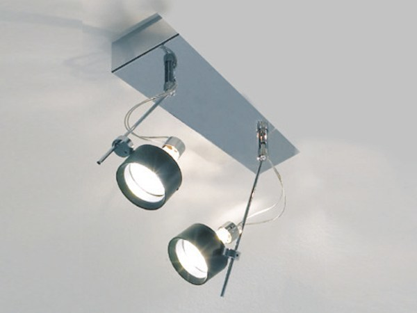 Adjustable metal spotlight with dimmer FLOW 02 D by LUCIFERO'S