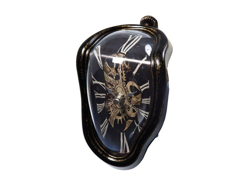 Table-top ABS clock FLOW ANTIQUE by KARE-DESIGN