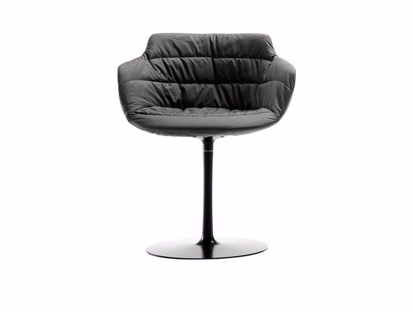 Swivel upholstered chair with armrests FLOW ARMCHAIR | Chair by MDF Italia