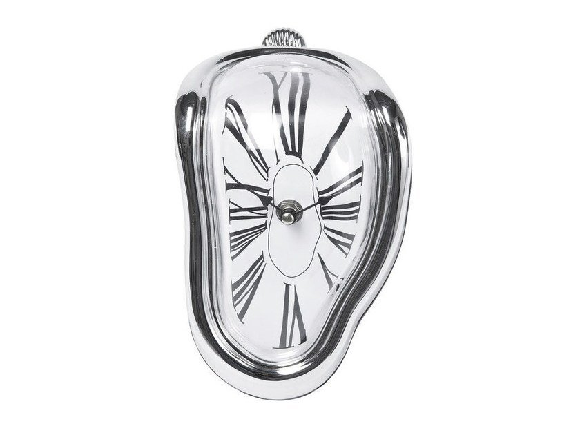 Table-top ABS clock FLOW SILVER by KARE-DESIGN