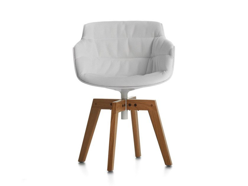 Chair with armrests FLOW SLIM COLOR | Chair by MDF Italia