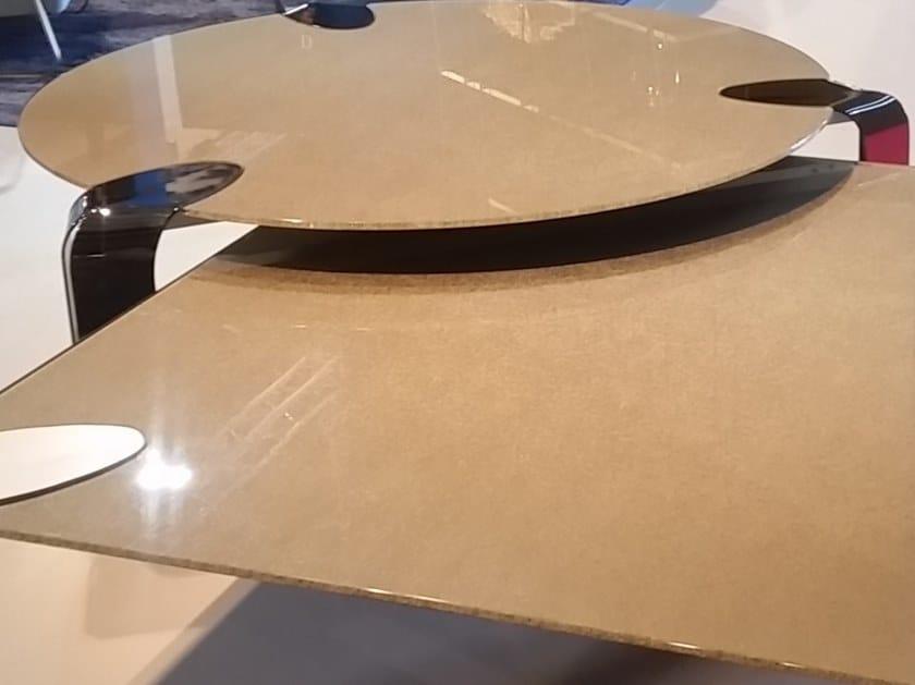 Round crystal coffee table FLOW | Round coffee table by F.lli Orsenigo