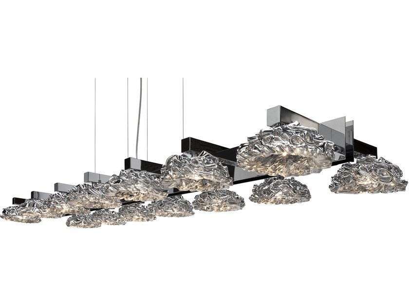 Direct light glass pendant lamp FLOWER FROM AMSTERDAM H14 by ILFARI
