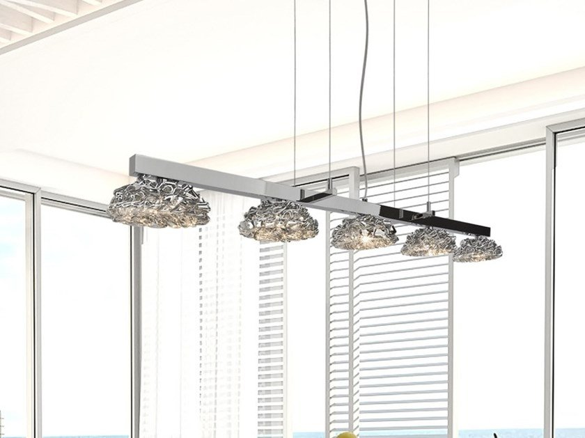 Direct light glass pendant lamp FLOWER FROM AMSTERDAM H5 by ILFARI