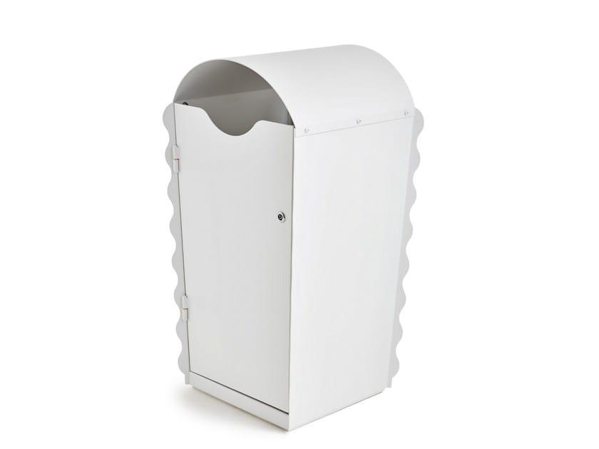 Outdoor powder coated steel litter bin FLOWER by Nola Industrier