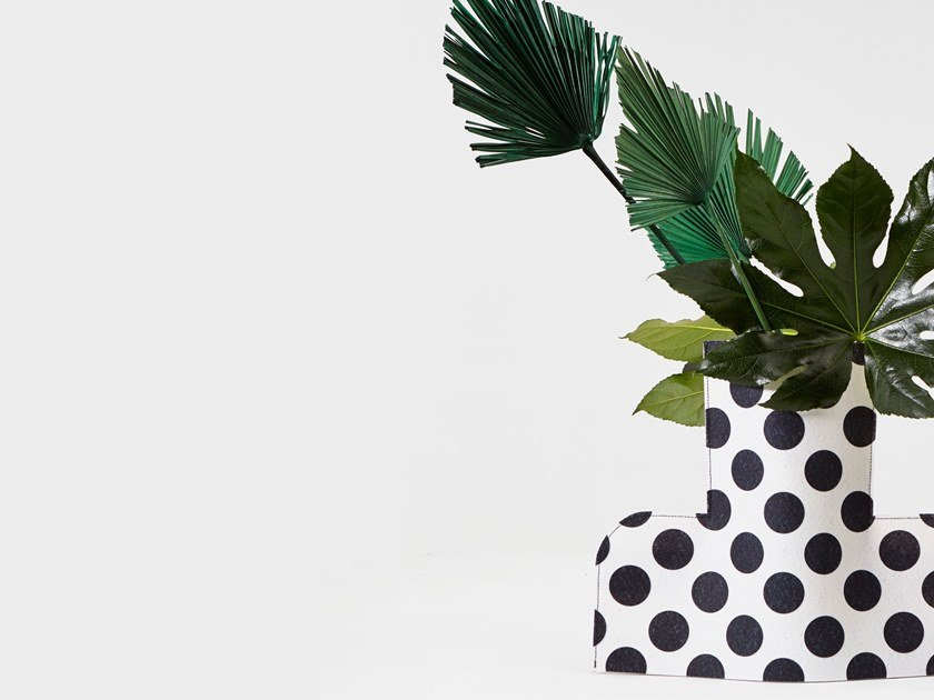 Fabric vase FLOWER POWER L MONOCHROME 01 by Sancal