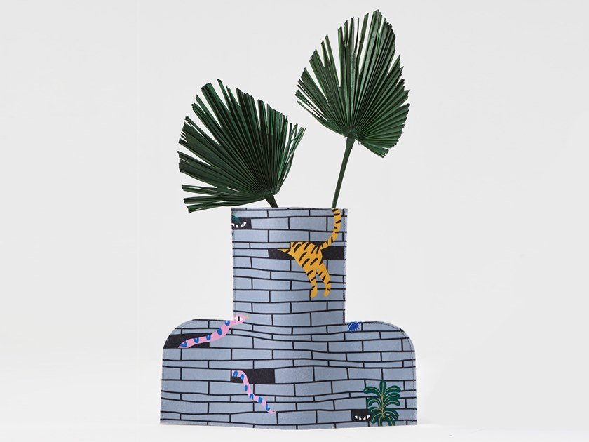 Fabric vase FLOWER POWER L URBAN JUNGLE 02 by Sancal