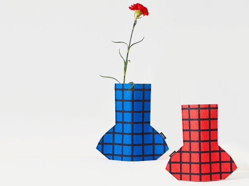 Fabric vase FLOWER POWER S GRID 01 by Sancal
