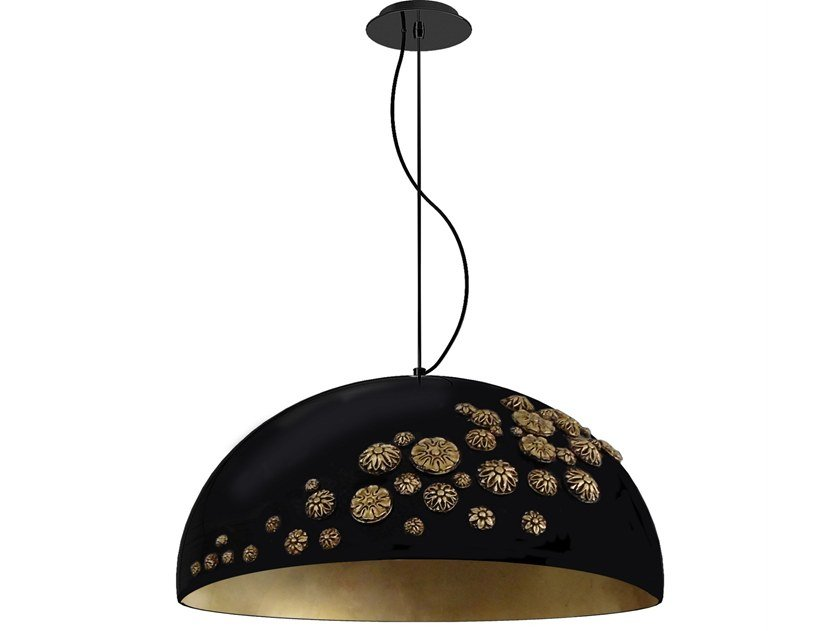 Glass-fibre pendant lamp FLOWERS by Creativemary
